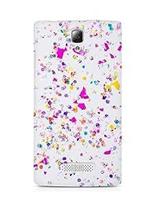 Amez designer printed 3d premium high quality back case cover forLenovo A2010 (iphone confetti)