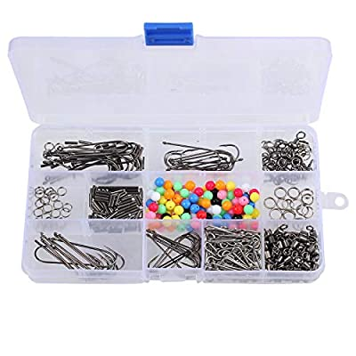Sea Fishing Tackle Rig Set, 50+ Rigs, Beads/Swivels/Crimps/Hooks, with Box from Proster
