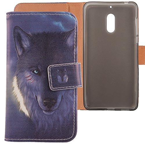 Lankashi PU Flip Leder Tasche Hülle Case Cover Schutz Handy Etui Skin Für Nokia 6 Dual SIM 5.5