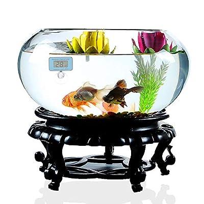Decdeal Digital LCD Aquarium Thermometer mit Saugnapf Wasserdicht Mini Indoor Aquarium Thermometer Temperaturmessung Display Aquarium Zubehör