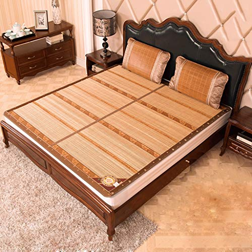 DUAN GUO FENG DGF Bambusmatte doppelseitiger Auflage-faltender Schlafsaal-einzelne Bambusmatte-hohe Temperatur Carbon Keine Farbe (größe : 1.8m×2m)