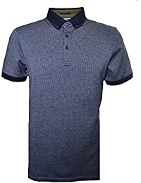Ted Baker Men's Tig Navy Textured Jacquard Polo Shirt