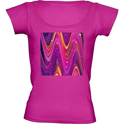 camiseta-rosa-fuschia-con-cuello-redondo-para-mujeres-tamano-l-olas-galaxia-rosa-y-morado-by-bluedar