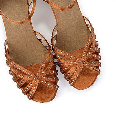Scarpe da ballo-Da donna-Danza del ventre / Balli latino-americani / Jazz / Sneakers da danza moderna / Moderno / Samba Brown