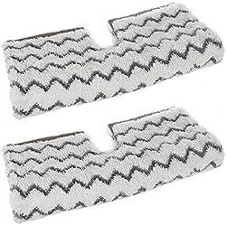 Spares2go Housse de Protection pour Nettoyeur Vapeur Shark Klik n Flip S6001 S6003, 2 Pads