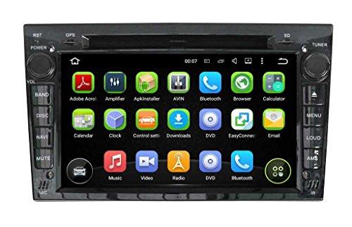 (Nero) 7 pollici Android 5.1.1 Lollipop OS Lettore DVD dell'automobile per Opel Zafira 2005 2006 2007 2008 2009 2010 2011, Quad Core 1.6G Cortex A9 CPU 16G Flash 1G RAM DDR3 1024x600 GPS Radio Ingresso Aux OBD2 - Costruito Nel Registratore Cd