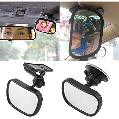 Nusey (TM) del sedile posteriore di sicurezza View Mirror bambino Ward Lato rivolto seggiolini auto per bambini Interni Bambini sicurezza inverso del monitor di sicurezza carrello Specchio - Auto Per Bambini View Mirror