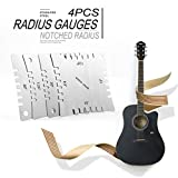 4Gitarre mit Radius Gauge Griffbrett Griffbrett Measure Tool Set