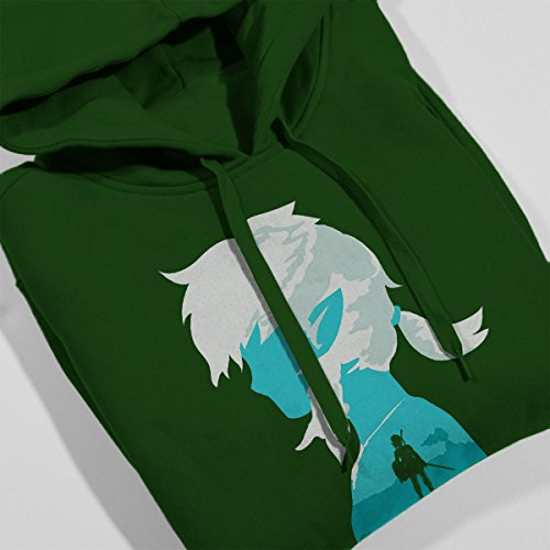 100 Years Later Link Legend Of Zelda Women's Hooded Sweatshirt Bottle Green