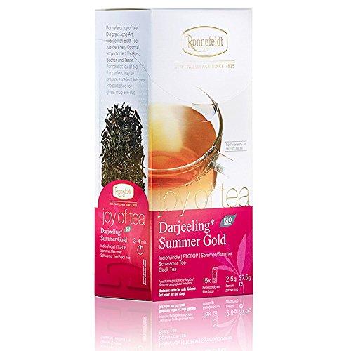 "Ronnefeldt Darjeeling Summer Gold ""joy of tea"" – Bio-Schwarztee, 15 Teebeutel, 37,5 g"