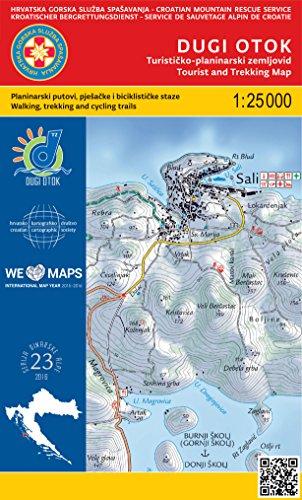 Dugi Otok 1:25.000 carte de randonnée (Croatie)