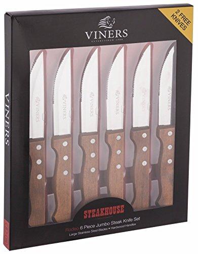 Viners Rodeo 6grandi coltelli Jumbo stile Brasiliano/Texano per carne 24x 2,5cm, confezione regalo.