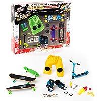 Grip&Tricks - 5RIDER - Un maletín de juguete Finger Toys Monopatin Skate Scooter Longboard Roller Cruiser board -