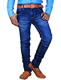 L,Zard Fashionable Slim Fit Blue Stretchable Jeans For Men's Stylish Jeans For Blue Jeans For Men,Men's Blue Jeans