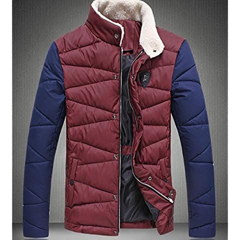 YCMDM rivestimento del cotone caldo inverno degli uomini risvolto della collana di cotone spesso cappotto , wine red , 4xl