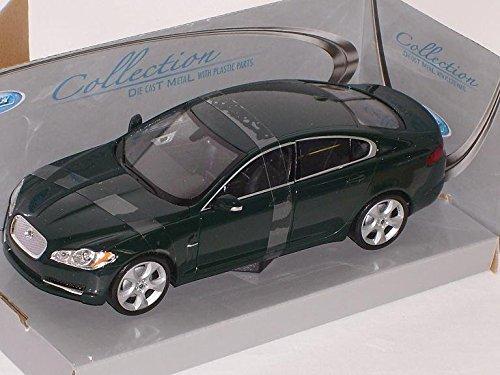 jaguar-xf-grun-limousine-ab-2008-1-24-welly-modell-auto-mit-individiuellem-wunschkennzeichen