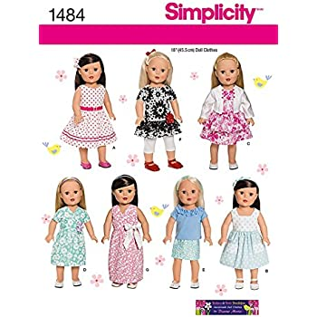 Simplicity Button & Bow Boutique Sewing Pattern 1484 18in Dolls ...