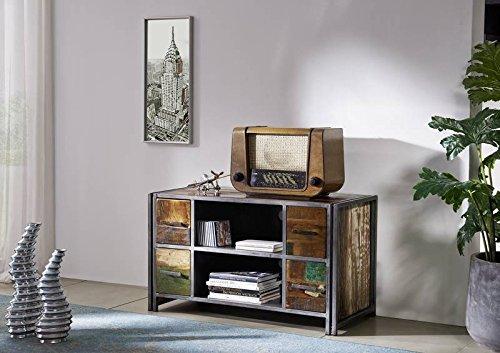 bois massif verni métal massif meuble Lowboard vieux chêne Multicolore Meuble MASSIF MEUBLE MASSIF New York #02