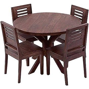2582f503546 Ringabell Altavista Hake Solid Wood 4 Seater Dining Set (Walnut Finish)