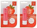 #5: Vinca Creation Fruit Lip Balm, Strawberry, 4.5g (Pack of 2)