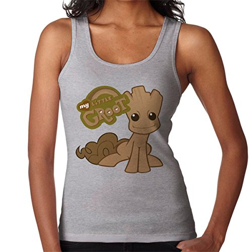 Guardians Of The Galaxy My Little Groot Pony Women's Vest Heather Grey