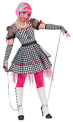 für Damen - Gr. 36 38 (Marionette Kostüm Halloween)