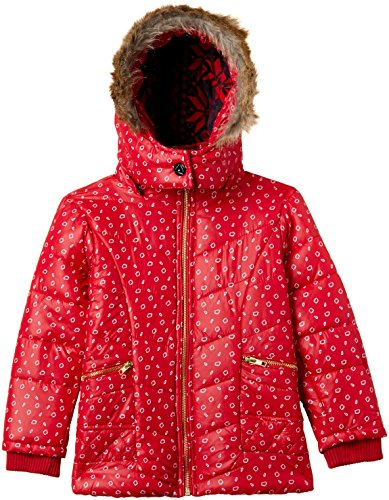 Fort Collins Girls' Regular Fit Synthetic Jacket (10225_Red_24 (4 - 5 years))