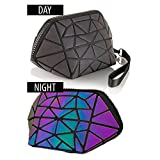 Pryzm Laser Makeup Bags WORLDS FIRST Light Reflective Material - GLOWS IN THE DARK - Travel Cosmetic Pouch Purse Glow Toiletry Organiser (SMALL)