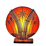 Deko-Leuchte Stimmungsleuchte Stehleuchte Tischleuchte Tischlampe Bali Asia PALME klein 36 cm Color Orange