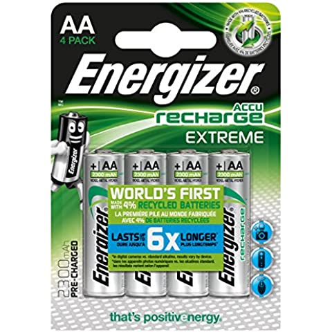 Energizer Extreme-Blister di 4 pile ricaricabili AA 2,300 BP4