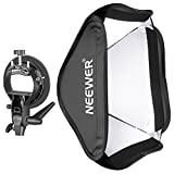 Neewer Plegable 60x60 centímetros Difusor con Tipo-S Abrazadera Montura para Speedlite Estudio Flash Monolight, Retrato y Fotografía de Producto