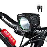 Bike Light Set - Super Bright 1200 Lumens LED Headlight - 6400mAh Rechargeable