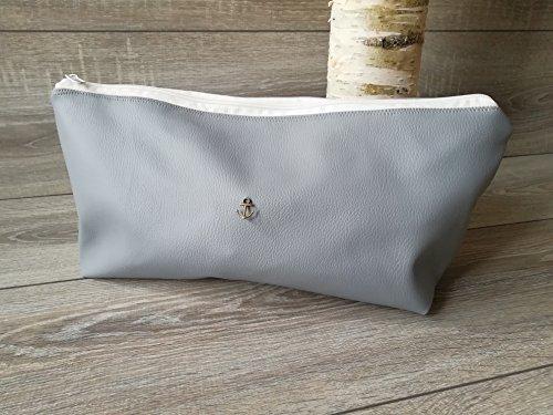 Große Kosmetiktasche Schminktasche Kulturbeutel Waschtasche maritime Tasche mit Reißverschluss Geschenktidee zum Muttertag Geburtstag (Glätteisen Produkte)