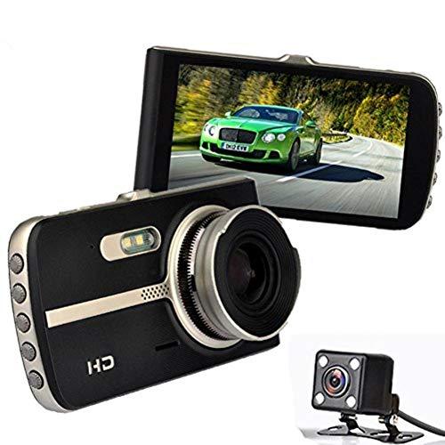 MLMHLMR HD-Nachtsichtgerät mit verschiedenen Sprachen 1296P Dual Lens Driving Recorder 170 ° Weitwinkel 4,0 Zoll IPS-Bildschirm Metallseite Schwarz Übersetzer - Dual-nachtsichtgerät