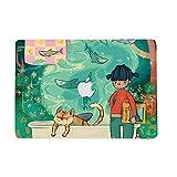 AQYLQ MacBook Schutzhülle/Hard Case Cover Laptop Hülle [Für 2018 MacBook Air 13 Zoll Retina: A1932], Ultradünne Plastik Matt Gummierte Hartschale Schutzhülle, GLBY-11 Katze & Fisch