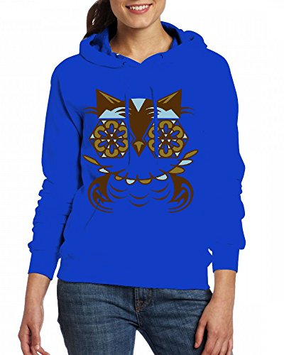 Custom Womens Hooded - Design A stylized owl in Romanesque style Hoodies green