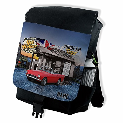 25a9443544b9 Personalised Sunbeam Tiger Retro Classic Car Backpack School Rucksack  Overnight Laptop Bag    Add a Name   Gift - Buy Online in Oman.