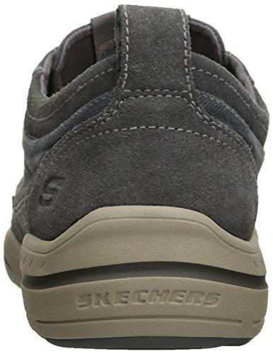 Skechers da uomo Harper Olney Lace-up Flats Gray