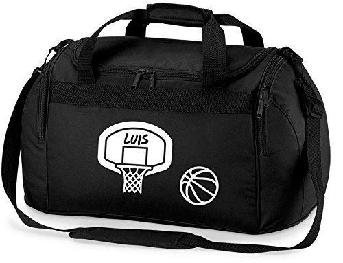 personalisierte Sporttasche mit Namen Bedrucken Basketball, Reisetasche Bedrucken