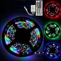 Xiahbong 3 m RGB 3528 180 LED SMD flexible Franja de luz + 44 llave IR mando a distancia (3M)