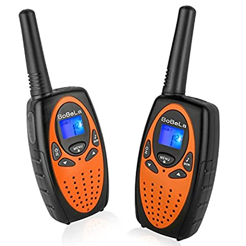 Bobela M880 Two Way Radio Transceiver Twin Hand Held Cheap Children Walkie Talkies For 2 Years Old Boys and Girls to Go Camping, Traveling and Cruise Ship(Orange, 1