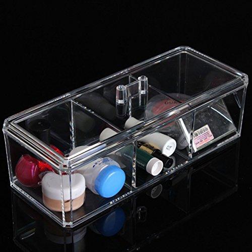 Bluelover Transparent Acrylique Cosmétique Organisateur Maquillage Étui De Rangement Vitrine