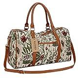 BAOSHA HB-29 Frauen Canvas Reisetasche Tote Handtaschen Weekender Handgepäck für Damen Mädchen Holdall Overnight Travel Duffel Bag (Leichte Blume)