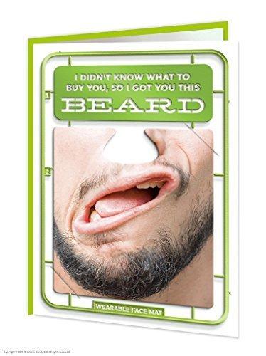 Funny Humorvolle 'Bart' Geburtstagskarte mit tragbarem Face Matte