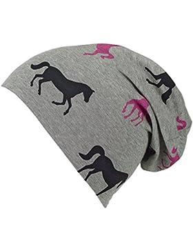 Sterntaler Slouch-Beanie für Mädchen mit Pferdemotiv