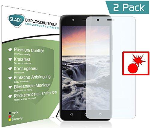 Slabo 2 x Film de Protection d'écran blindé pour Gigaset GS270 | GS270 Plus Shockproof Résistant aux Chocs