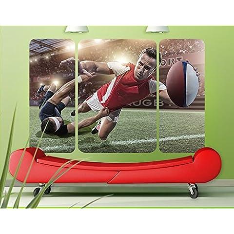 Adesivo murale Rugby In Motion Trittico II, Größe:72cm x 108cm