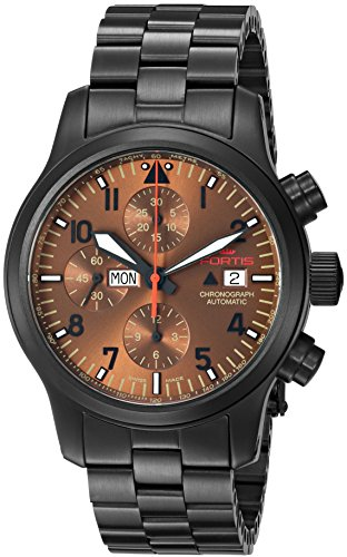 Fortis Colors Men's 656.18.98 MPVD Aeromaster Dusk Chronograph Analog Display Automatic Self Wind Black Watch