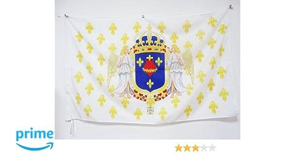 FLAGGE BLUME GOLD KÖNIGREICH FRANKREICH FAHNE  90 x UND BLAULILIE 2 150x90cm