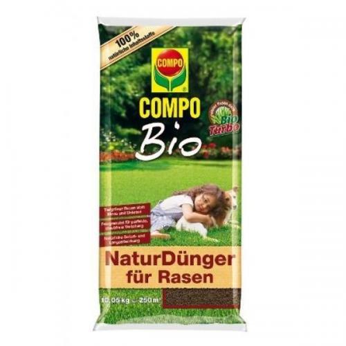 COMPO Bio NaturDünger für Rasen 10,05 kg, Volldünger, Langzeitdünger